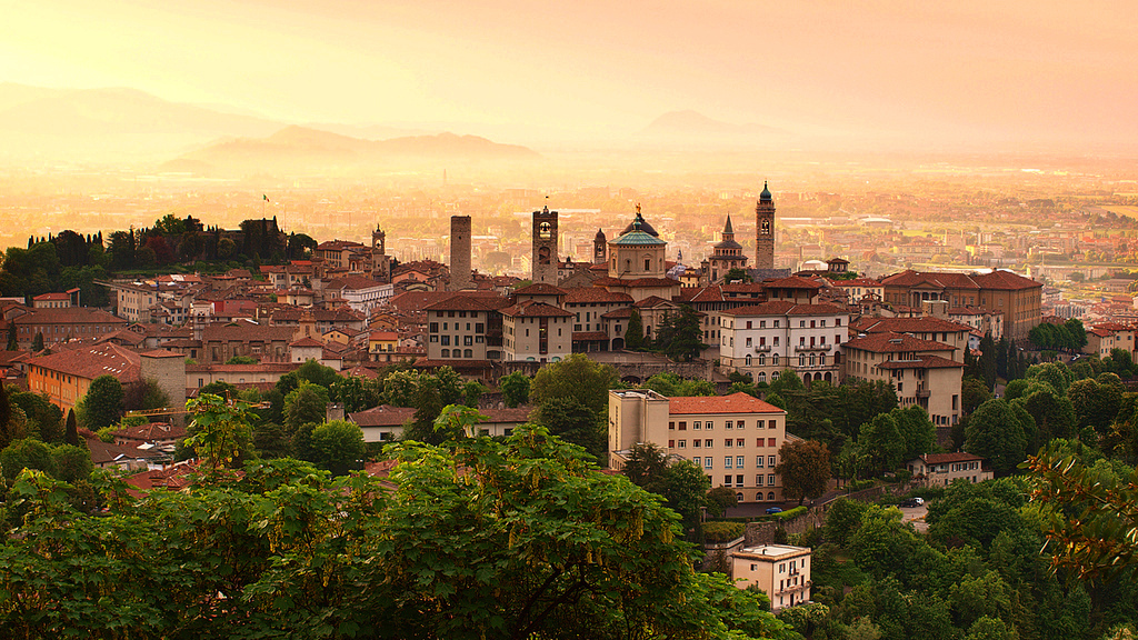 Sunrise_at_Bergamo_old_town_Lombardy_Italy Unesco World Heritage Sites in Lombardy